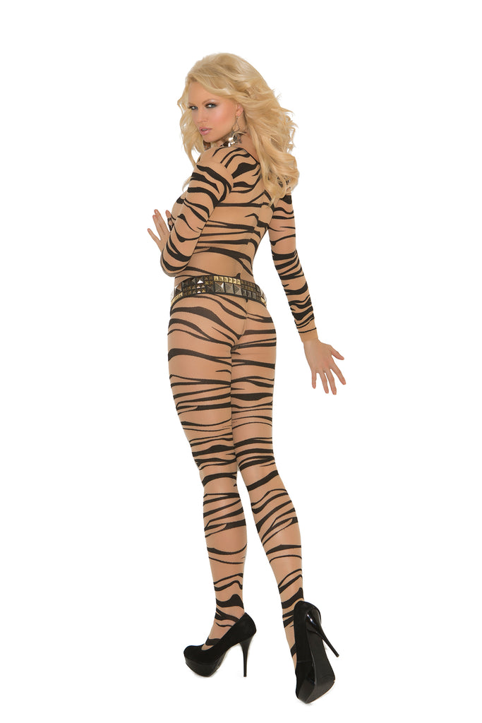 Zebra Long Sleeve Bodystocking - Casual Toys