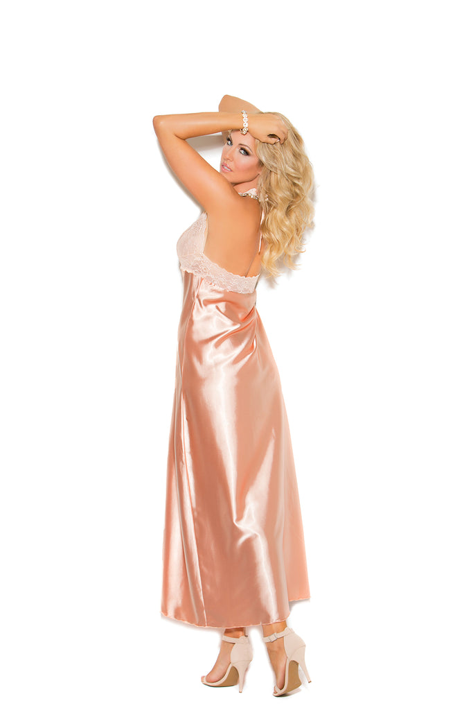 Lace & Charmeuse Gown - Casual Toys