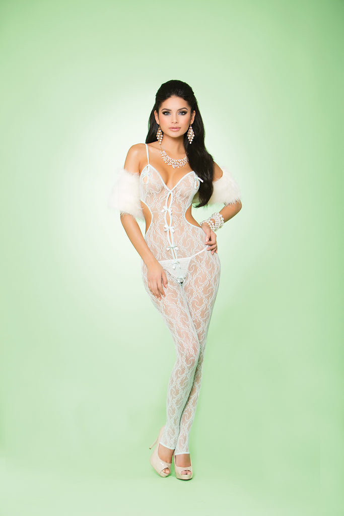 Lace Bodystocking W- Bows - Casual Toys