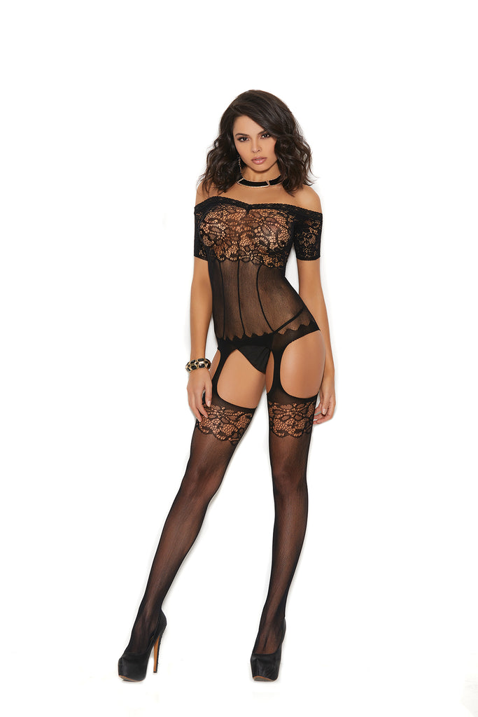 Off The Shoulder Bodystocking - Casual Toys