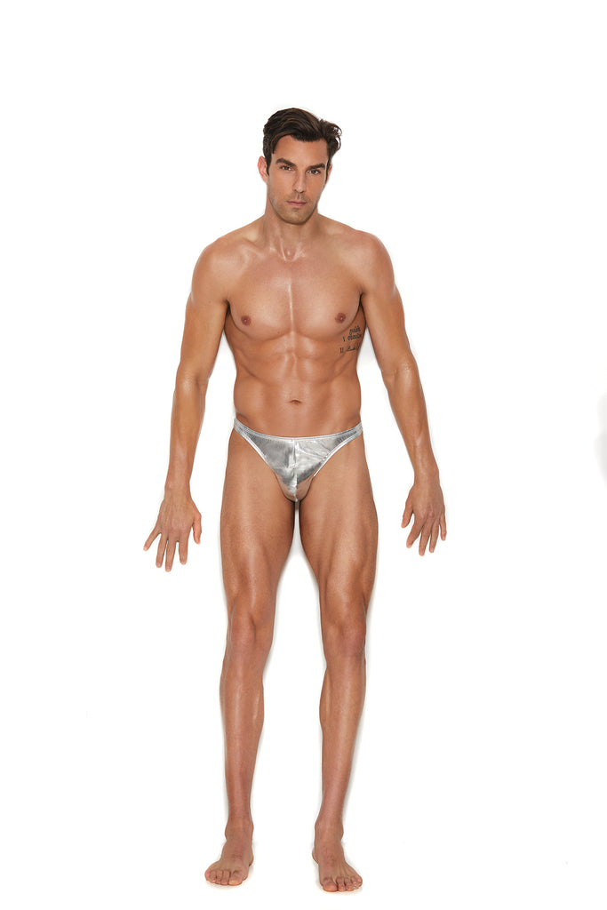 Men's Silver Lame' Thong - Casual Toys
