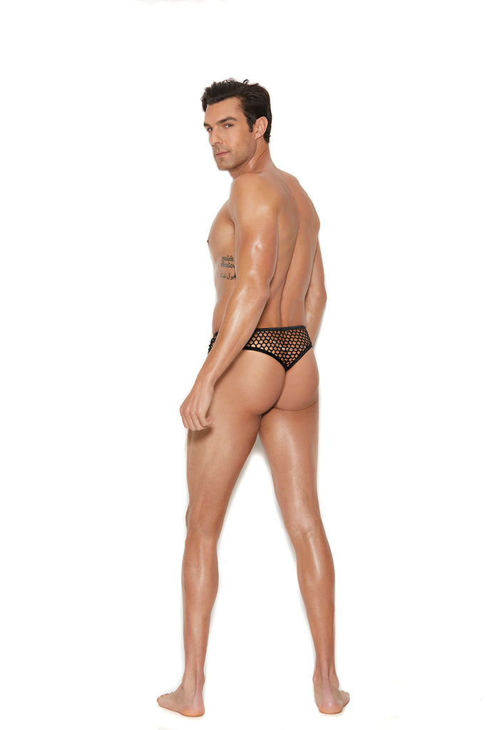 Men's Fishnet Thong Back Brief - Casual Toys