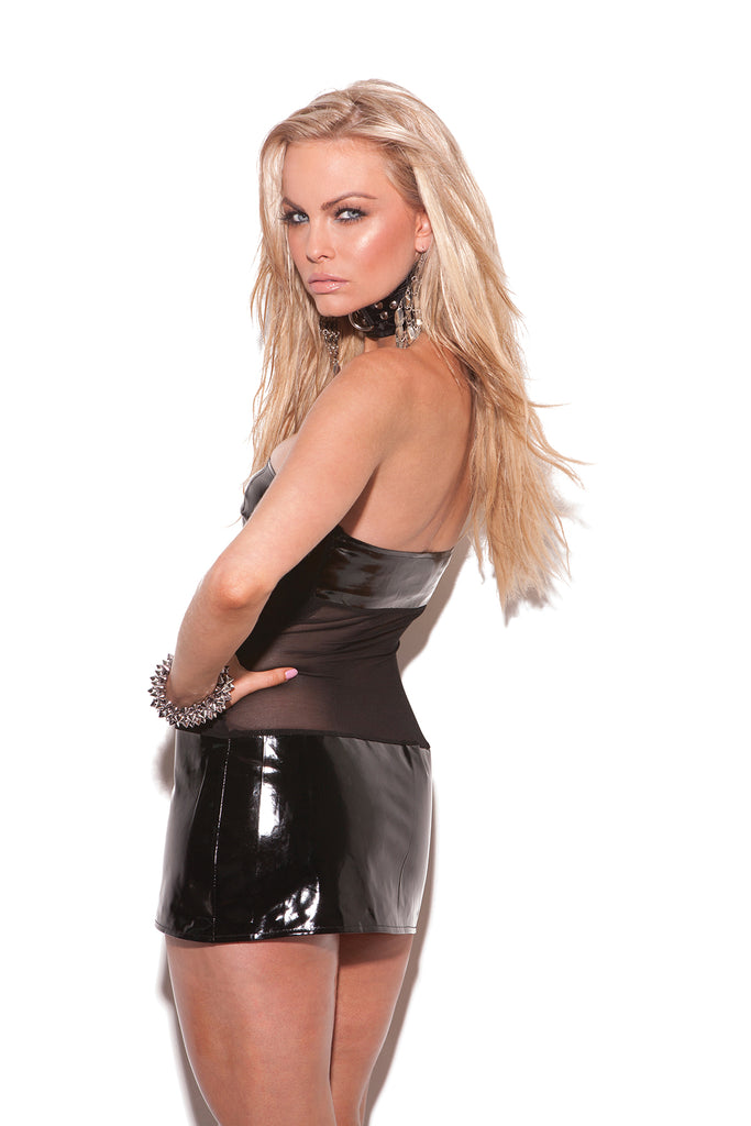 Vinyl And Mesh Bandeau Dress - Casual Toys