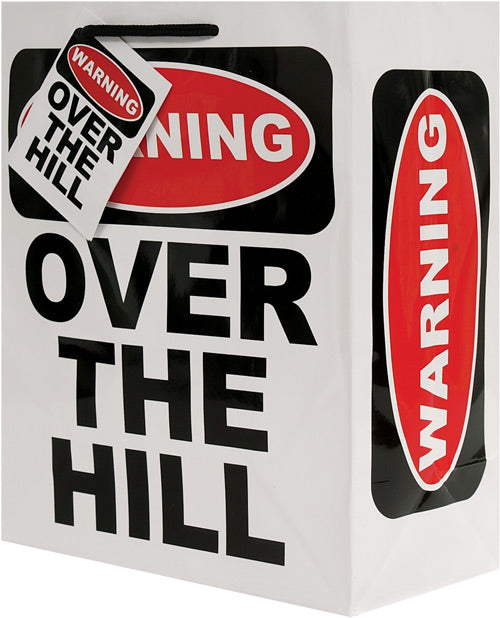 Warning Over The Hill Gift Bag - Casual Toys