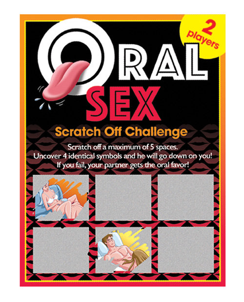 Oral Sex Scratch Off Challenge