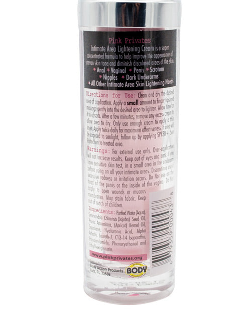 Pink Privates Intimate Area Lightening Cream 1 Oz