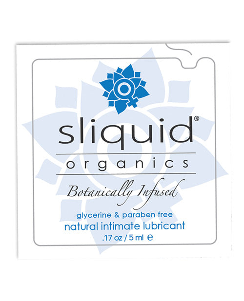 Sliquid Organics Natural Intimate Lubricant - .17 Oz Pillow - Casual Toys