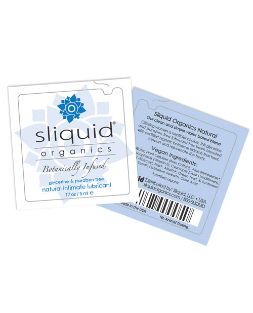 Sliquid Organics Natural Intimate Lubricant - .17 Oz Pillow