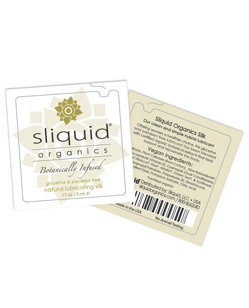 Sliquid Organics Silk Lubricant - .17 Oz Pillow - Casual Toys