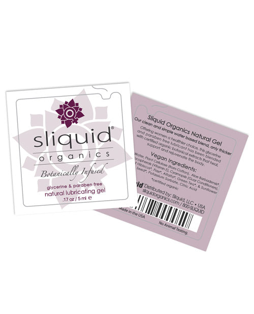 Sliquid Organics Natural Lubricating Gel - .17 Oz Pillow