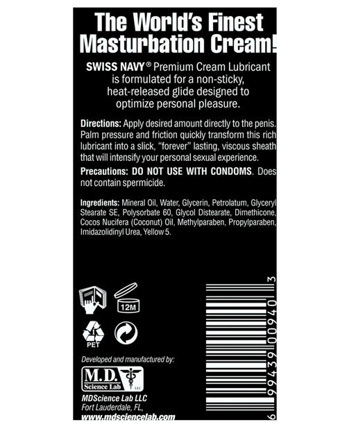 Swiss Navy Premium Masturbation Cream - 5 Oz Tube - Casual Toys