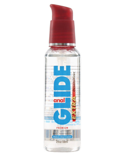 Anal Glide Extra Anal Lubricant & Desensitizer - 2 Oz Pump Bottle - Casual Toys