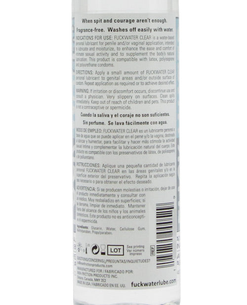 Fuck Water Clear H2o - 8 Oz Bottle