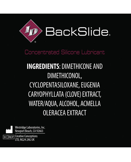 Id Backslide Anal Lubricant - .27 Oz Tube Box Of 4 - Casual Toys
