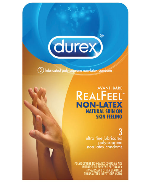 Durex Avanti  Real Feel Non Latex Condoms - Pack Of 3 - Casual Toys