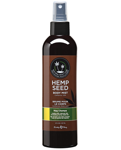 Earthly Body Hemp Seed Moisturizing Body Mist - 8 Oz Nag Champa