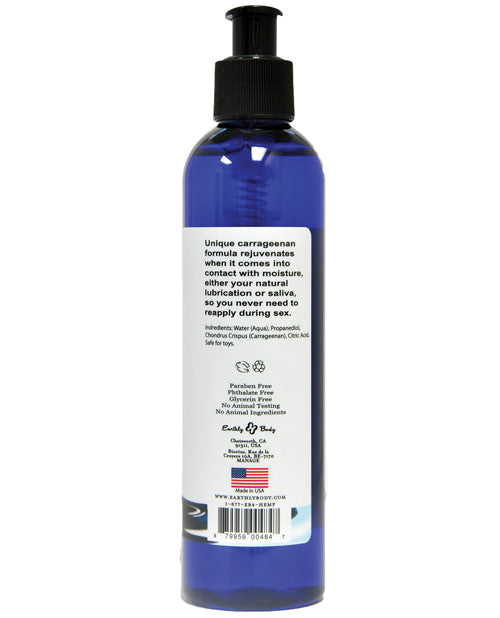 Earthly Body Waterslide Personal Lubricant W-carrageenan - 8 Oz Bottle - Casual Toys