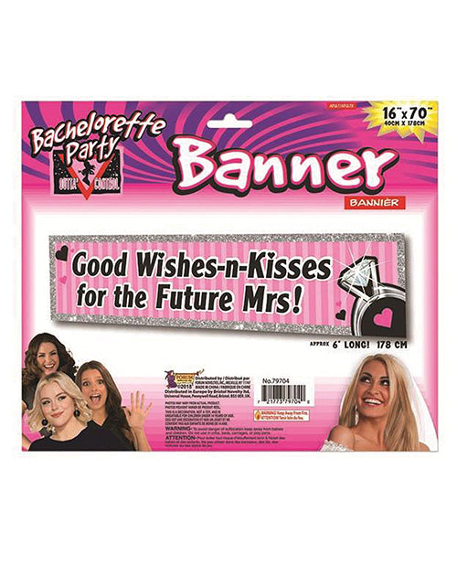 Bachelorette Outta Control Good Wishes Party Banner - Pink
