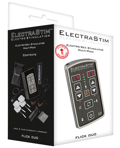 Electrastim Flick Duo Stimulator Multi Pack Em80-m - Casual Toys