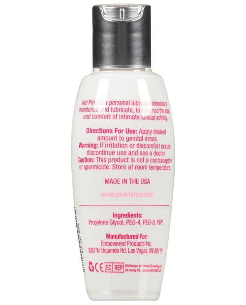 Hot Pink Lube - 2.8 Oz Bottle