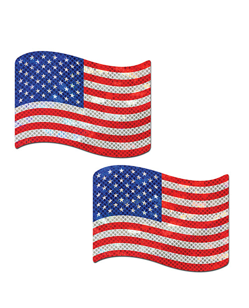 Pastease Usa Stars & Stripes Nipple Pasties - O-s - Casual Toys