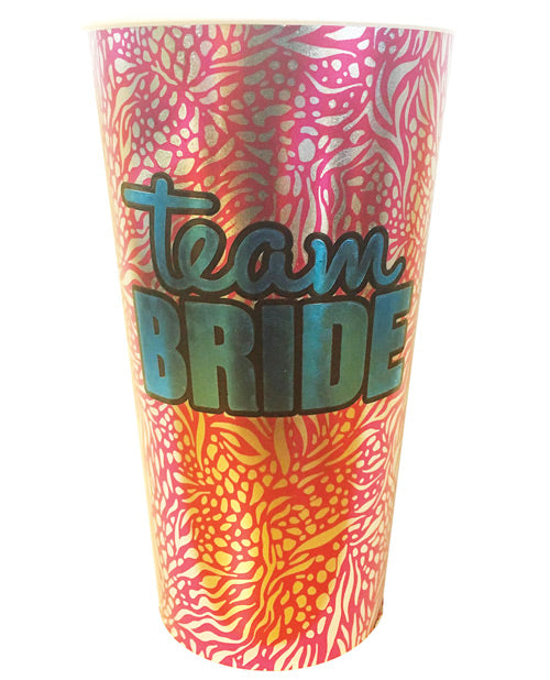 Team Bride Foil Drinking Cup