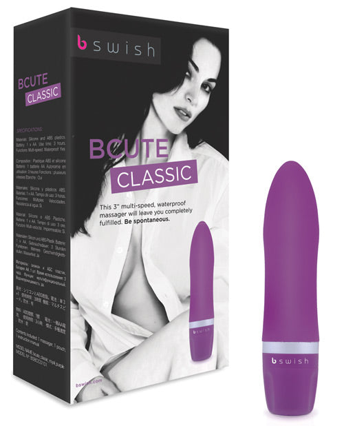 Bcute Classic Silicone Massager Waterproof - Purple