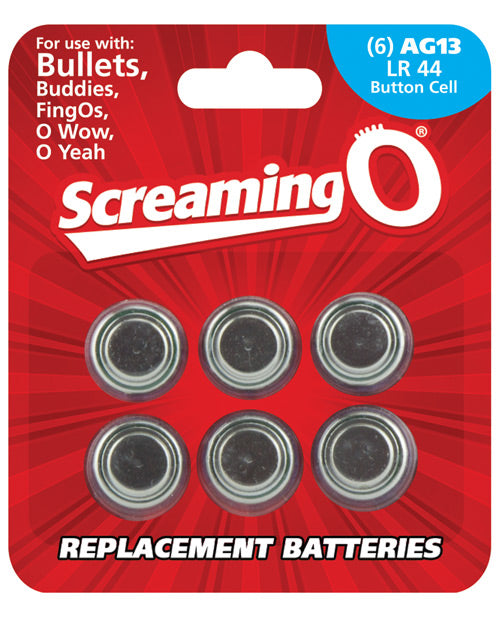Screaming O Ag13 Batteries - Sheet Of 6 (bullet, Owow, Fingo, Bullet Buddies, O Gee) - Casual Toys