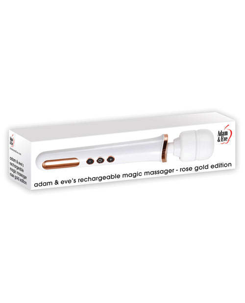 Adam & Eve Rechargeable Magic Massager - Rose Gold - Casual Toys