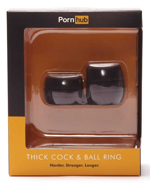 Porn Hub Thick Cock & Ball Ring - Black - Casual Toys