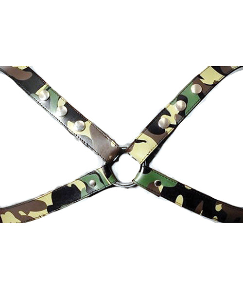 The Red Leather X Harness - Camo - Casual Toys