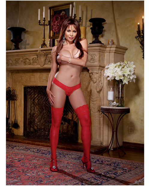 Stay Up Thigh Highs W/lace Top Nude Qn - Casual Toys