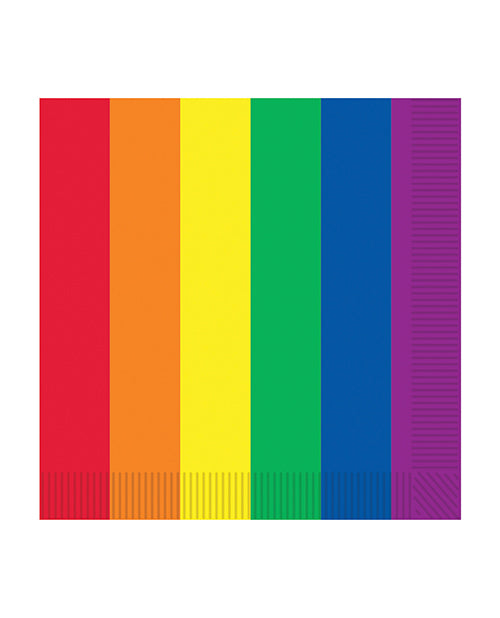 Pride Luncheon Napkins - Rainbow Pack Of 16 - Casual Toys