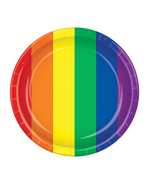 Pride Plates - Rainbow Pack Of 8 - Casual Toys