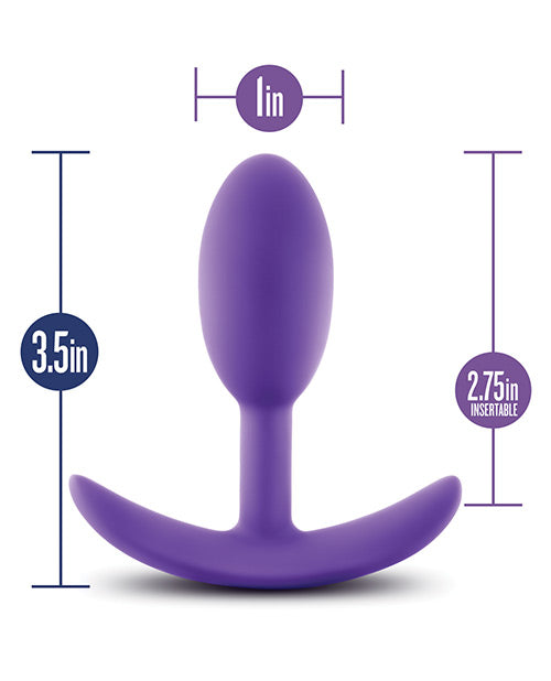 Blush Luxe Wearable Vibra Slim Plug Medium - Purple - Casual Toys