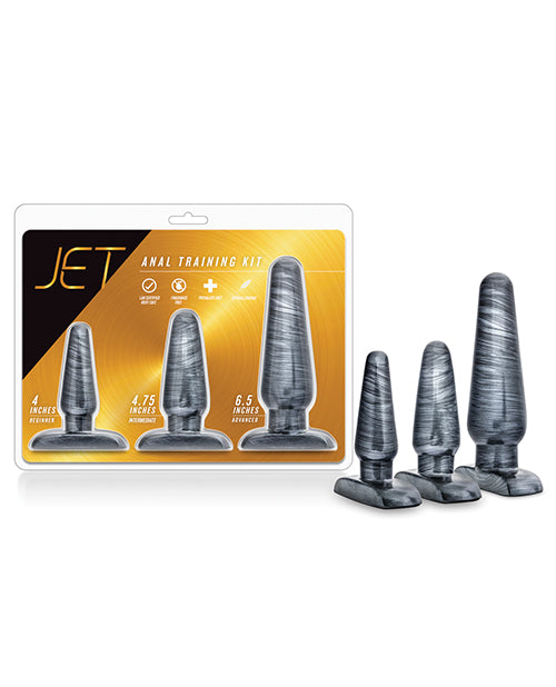 Blush Jet Anal Trainer Kit - Carbon Metallic Black - Casual Toys