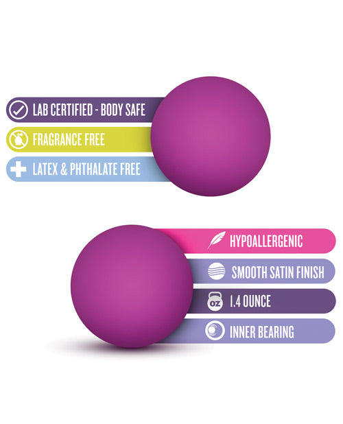 Blush Luxe Double O Advanced Kegel Balls - Purple - Casual Toys