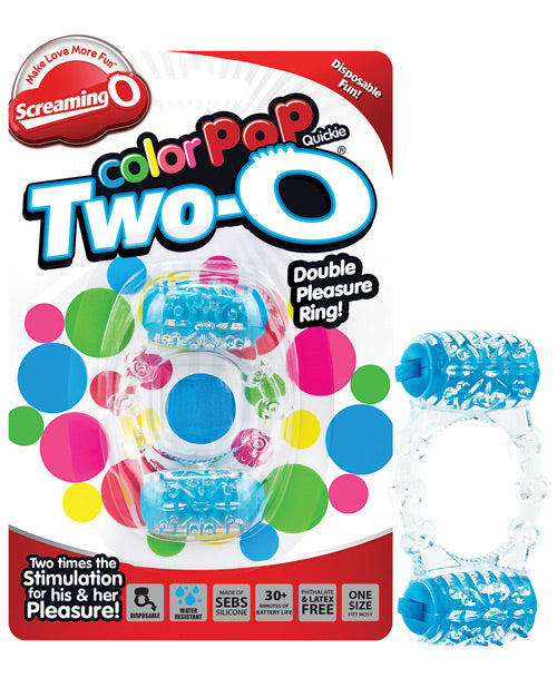 Screaming O Color Pop Quickie Two-o - Blue - Casual Toys