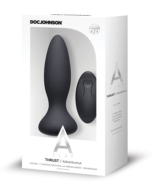 A Play Thrust Adventurous Rechargeable Silicone Anal Plug W/remote - Casual Toys