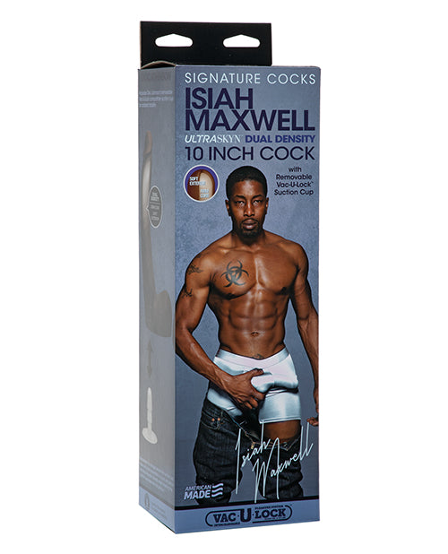 "Signature Cocks Ultraskyn 10"" Cock W-removable Vac-u-lock Suction Cup - Isiah Maxwell"
