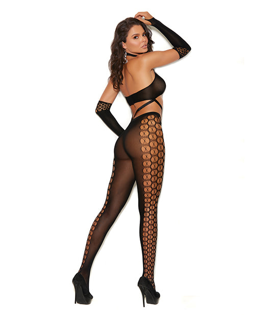 Vivace Crochet Bodystocking W-gloves Black O-s - Casual Toys