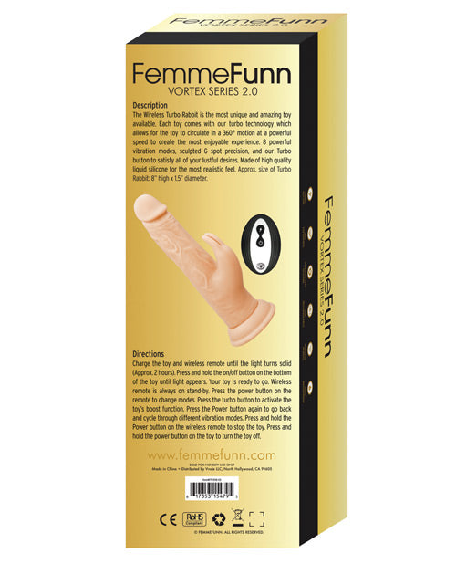 Femme Funn Wireless Turbo Rabbit 2.0 - Nude - Casual Toys
