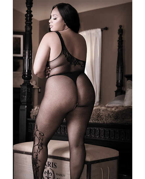 Sheer Fantasy Before Dawn Off The Shoulder Bodystocking Black - Casual Toys