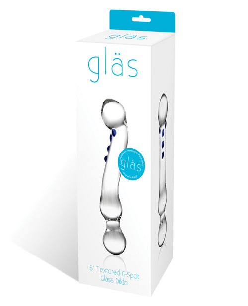 "Glas 6"" Curved G-spot Glass Dildo - Casual Toys"