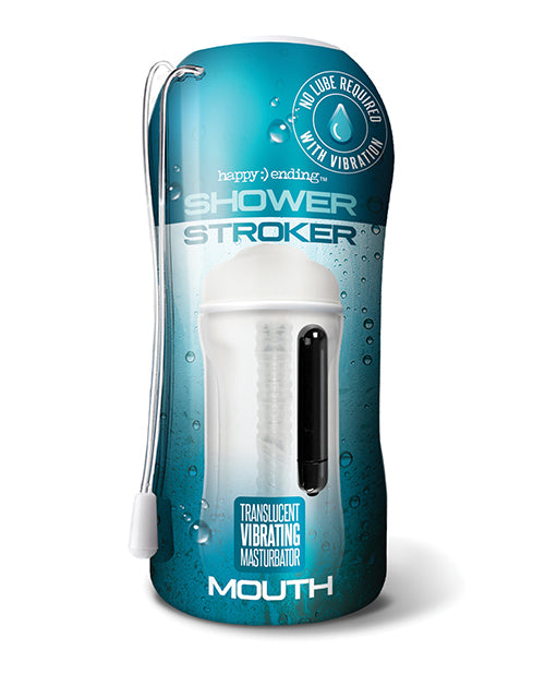 Shower Stroker Vibrating Ass - Clear - Casual Toys