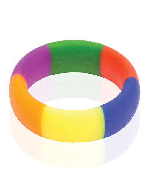 The 9's Pride 365 Rainbow Cock Ring - Casual Toys