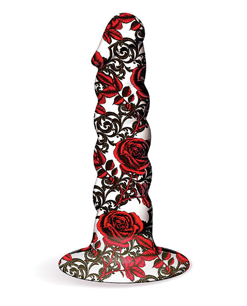 Collage Iron Rose Twisted Silicone Dildo