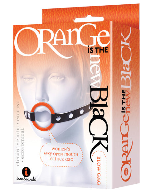 The 9's Orange Is The New Black Blow Gag Open Mouth Leather Gag - Casual Toys