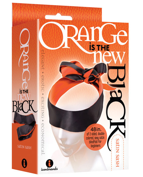 The 9's Orange Is The New Black Satin Sash Reversible Blindfold - Casual Toys
