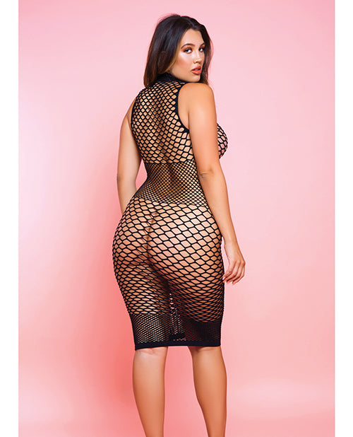 Fishnet Ride Or Die Dress Black - Casual Toys